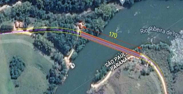 Construção da ponte sobre o Rio Ribeira que liga Adrianópolis a Itaóca é autorizada